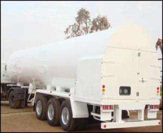 Carbon Dioxide Gas (Co2) Transport Tanks