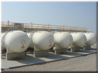 LPG Bulk Installation with vaporiser for industry